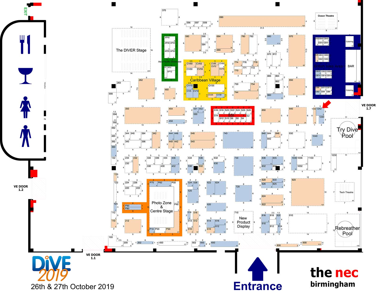 Dive Show 2019 Floor Plan